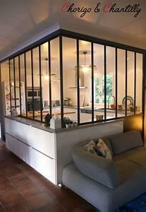 Bien cuisine ouverte avec verriere 5 cuisine mobilier for Deco cuisine avec buffet original meuble