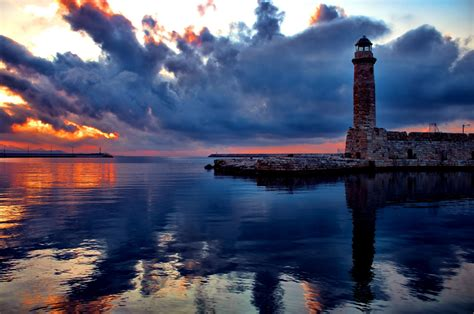 photography landscape water sea lighthouse harbor