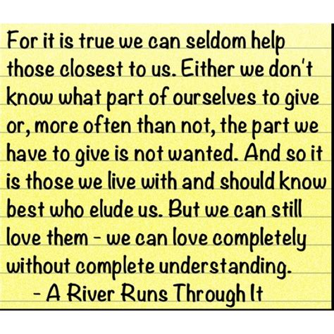 A River Runs Through It Book Quotes