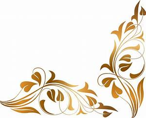 Brown Floral Border PNG High-Quality Image PNG Arts