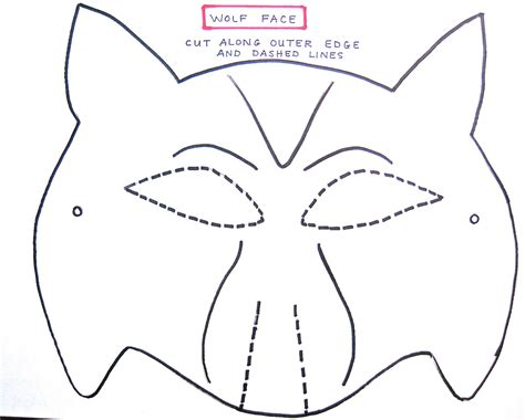 wolf mask template twilight family july 2010