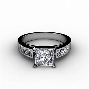 princess cut channel set engagement ring With princess cut wedding rings sets