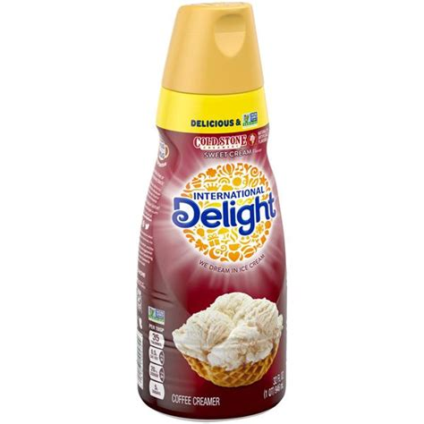 Yes international delight has created some scrumptious creamers based on cold stone ice cream. International Delight Cold Stone Creamery Sweet Cream Flavor Gourmet Coffee Creamer   Hy-Vee ...