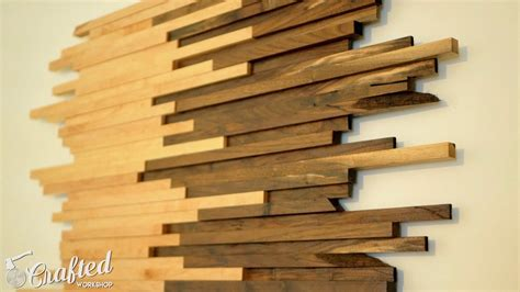 build scrap wood wall art   walnut maple