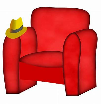 Chair Clipart Furniture Hat Bed Transparent Armchair
