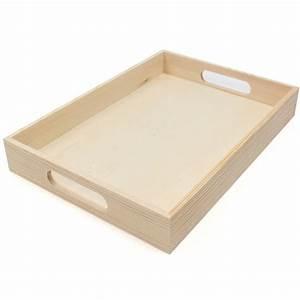 Wooden Rectangular Tray 35 X 25 X 8 Cm Hobbycraft