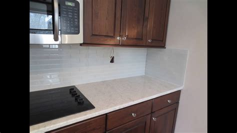 install glass tile kitchen backsplash youtube