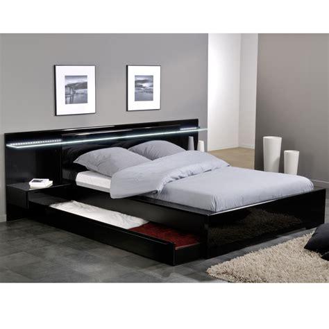 ensemble lit environnement lumineux 160 x 200 avec 2