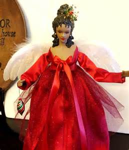 African American Christmas Angel Tree Topper