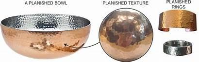 Hammered Metal Planishing Planished Sheet Surface Finishes