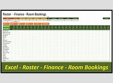 Pivot Excel Data – Roster Database Room Bookings or