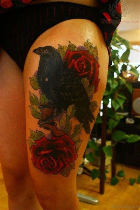 superb rose tattoos  thigh