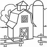 Farm Yard Cliparts Coloring Children sketch template