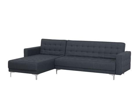 Right Hand Fabric Corner Sofa Dark Grey Aberdeen