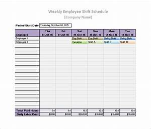 Daily work schedule template 17 free word excel pdf for Employee daily work schedule template