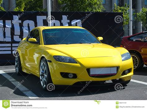 Yellow Sports Car Editorial Photo