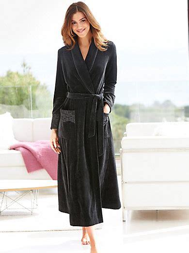 robes de chambre grandes tailles rösch velour dressing gown black