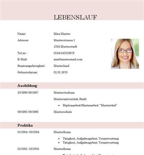 Lebenslauf Vorlage by Lebenslauf Vorlage Modern Dokument Blogs