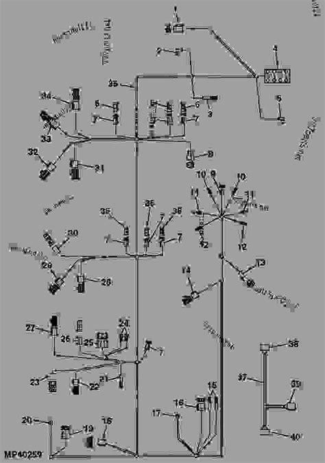 wiring harness tractor compact utility john deere