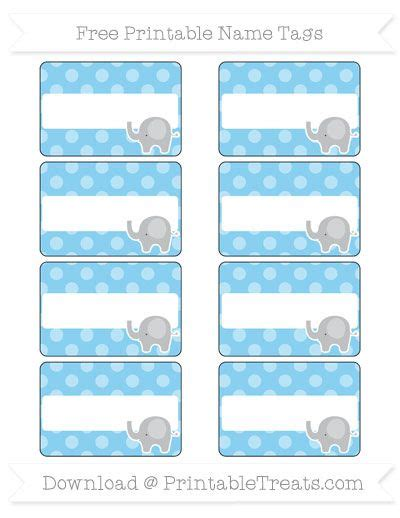 baby blue dotted pattern elephant  tags