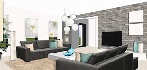 Décoration Intérieure Salon : interieur maison moderne salon design en image ~ Teatrodelosmanantiales.com Idées de Décoration