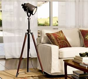 photographer39s tripod floor lamp pottery barn With retro photographers floor lamp