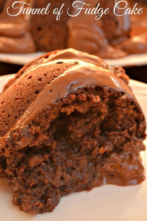 chocolatey tunnel  fudge cake heaven recipe