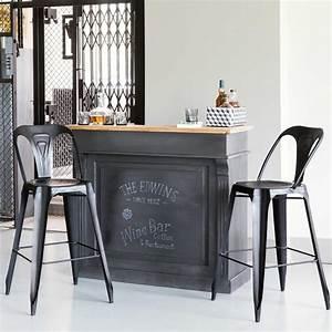 Meuble Bar Maison Du Monde : meuble de bar gris charbon germain maisons du monde ~ Nature-et-papiers.com Idées de Décoration