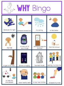 wh question bingo  images wh questions speech