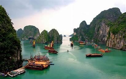 Bay Halong Vietnam Ha Desktop Wallpapers Limestone