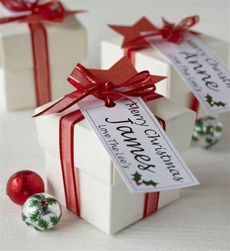 personalised christmas chocolate box tailored chocolates
