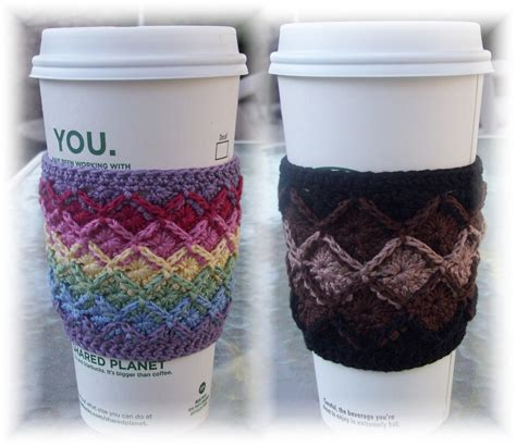 Some of the cozies below are cute, some are serious, some will make you smile but all of them are quick and easy to make and great for anyone who'd enjoy a holiday hot drinks holder. CrochetDad Ramblings: Bavarian Crochet Coffee Cozy