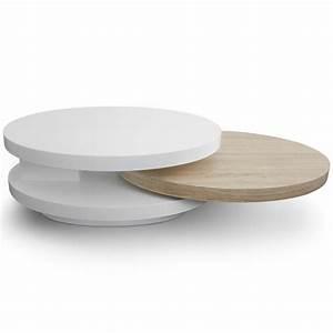 Table Basse Ovale Blanche : petite table basse ovale cuisine naturelle ~ Teatrodelosmanantiales.com Idées de Décoration