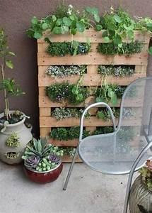 17 meilleures idees a propos de jardinage palette sur With idee de deco jardin exterieur 0 un jardin vertical en palettes joli place