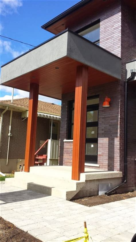 Faux Cedar Columns   Modern   Exterior   toronto   by TPM Custom Homes Inc.