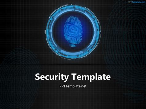 tech finger print  template