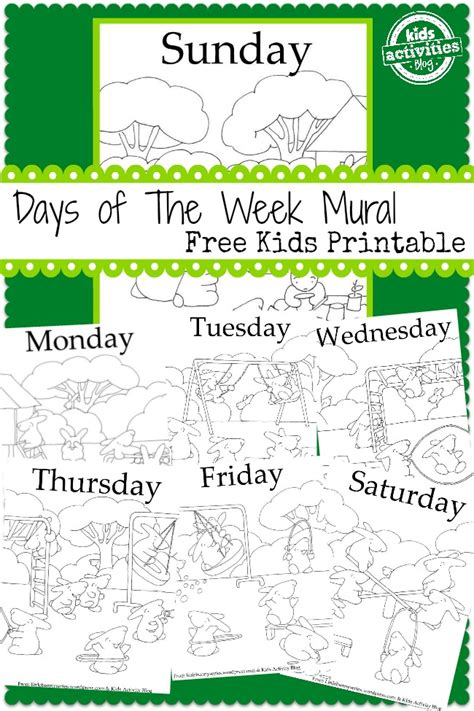 free preschool worksheets days of the week days of the