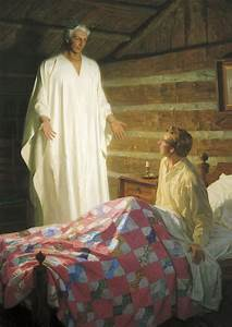 Moroni Appears To Joseph Smith In His Room  The Angel Moroni Appears To Joseph Smith