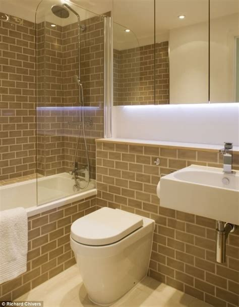 nice contrast of tiles and white ideas for the bathrooms