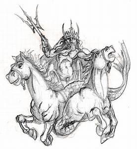 Poseidon sketch by MGAirbrush on DeviantArt