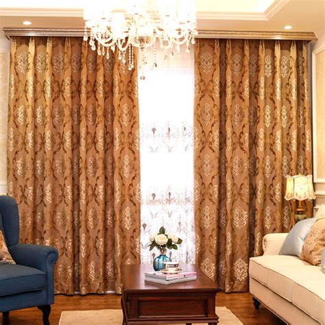 luxurious high end living room curtains for energy saving