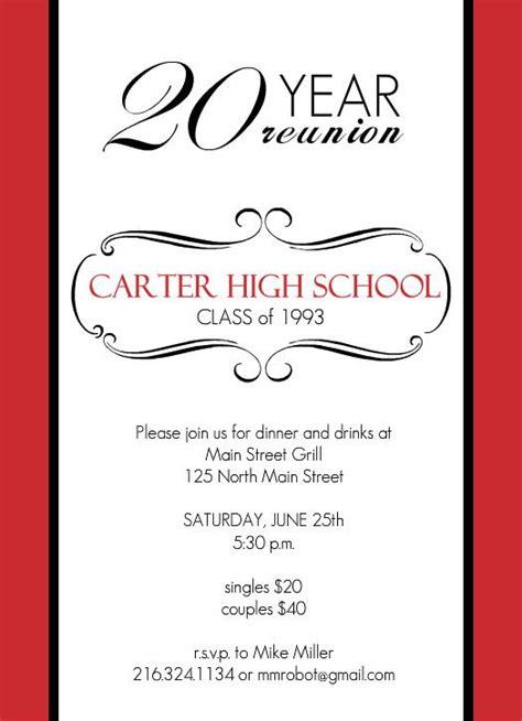 Reunion Invitation Card Templates