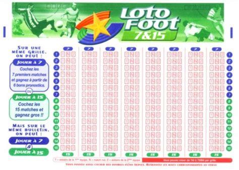 loto foot 7 et 15 prochaines grilles comment jouer au loto foot r 232 gles de base