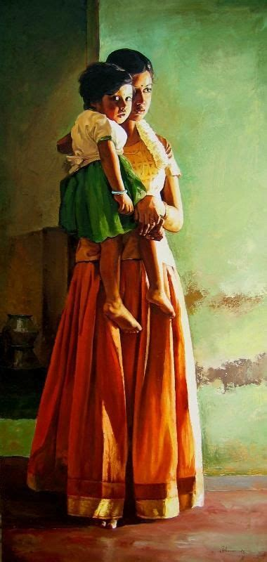 Indian Mother Painting Art Artists Love