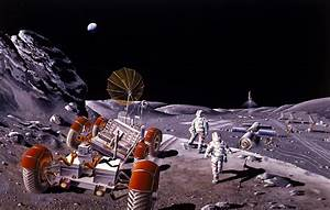 Artist concept of a base on the Moon. Credit: NASA, via ...