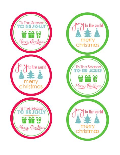 Free Printable Mason Jar Christmas Labels
