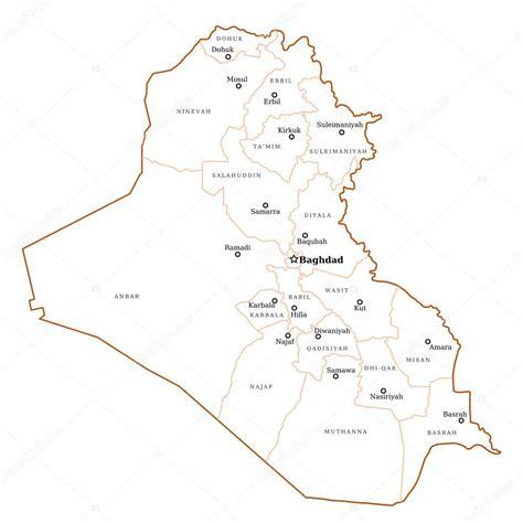 Iraq Outline Map — Stock Vector © Tupungato 24049401