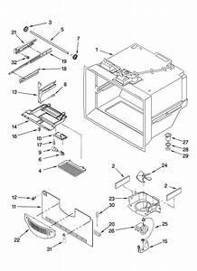 Freezer Liner Parts Diagram  U0026 Parts List For Model Gb2shdxtq01 Whirlpool