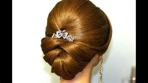 wedding hairstyle  medium long hair bridal updo youtube