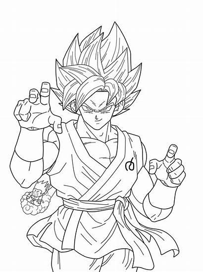 Goku Dragon Ball Coloriage Facile San Saiyan